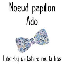 Pour Annabelle nœud papillon pré-noué / ajustable ado Liberty Wiltshire lilas