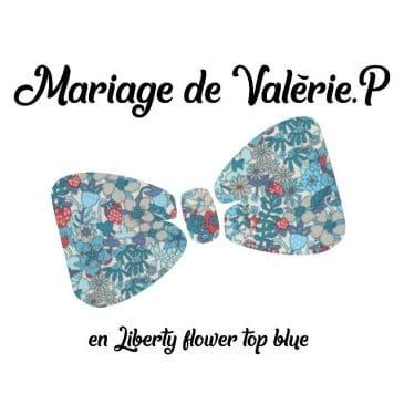 Mariage de Valérie en Liberty flower top blue