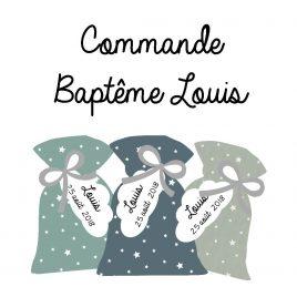 Pochons à dragées, baptême de Louis