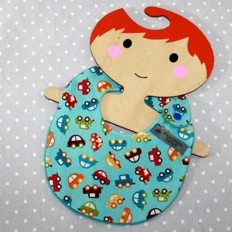 Bavoir bébé 0/8 mois thème voitures