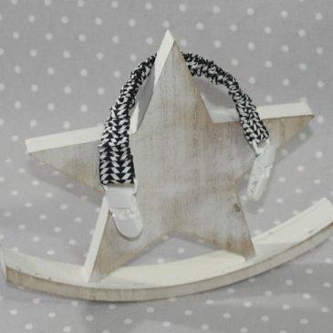 Clip attache bavette/serviette/doudou thème losanges