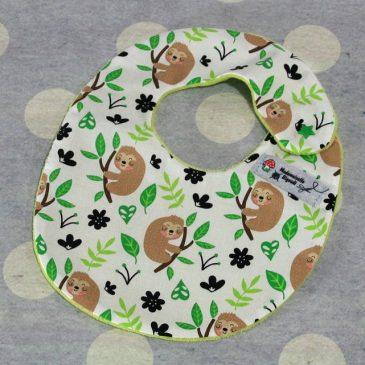 Bavoir bébé 0/8 mois thème paresseux