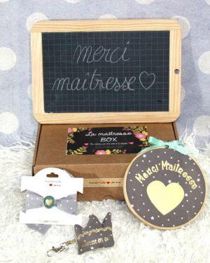 "Box ""Merci Maîtresse"" étoiles taupe"