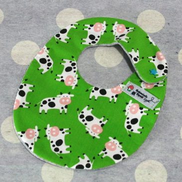 Bavoir bébé 0/8 mois thème vache