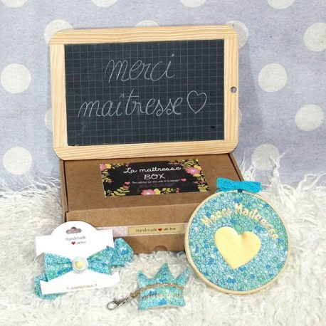 "Box ""Merci Maîtresse"" Liberty Blue"