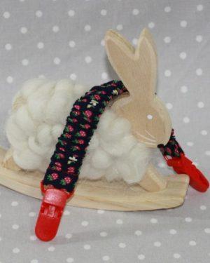 Clip attache bavette/serviette/doudou thème fraise marine