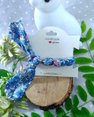 Bracelet à nouer femme Liberty bleu