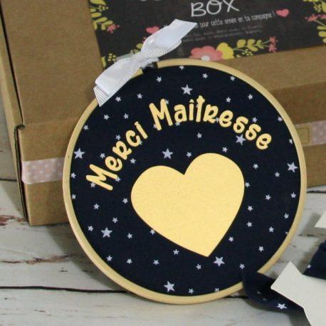 Box «Merci Maîtresse» étoiles bleu marine 2