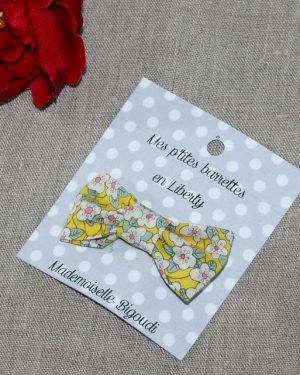 Barrette en Liberty Ffion jaune