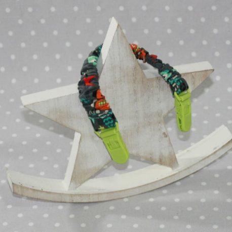 Clip attache bavette/serviette/doudou thème robot