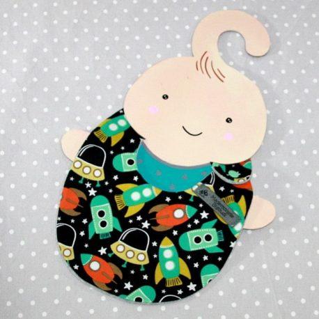 Bavoir bébé 0/8 mois thème espace