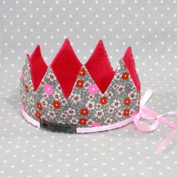 Couronne de Princesse en Petit Pan gris