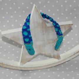 Clip attache bavette/serviette/doudou thème pois bleu