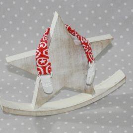 Clip attache bavette/serviette/doudou thème étoiles rouges et blanches