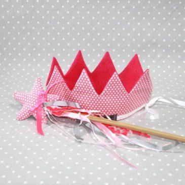 Panoplie fée princesse/ déguisement petits pois roses