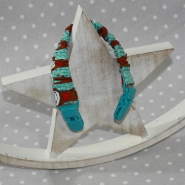 Clip attache bavette/serviette/doudou thème singe
