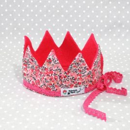 Couronne de Princesse en Liberty wiltshire rose