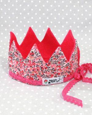 Couronne de Princesse en Liberty wiltshire rose