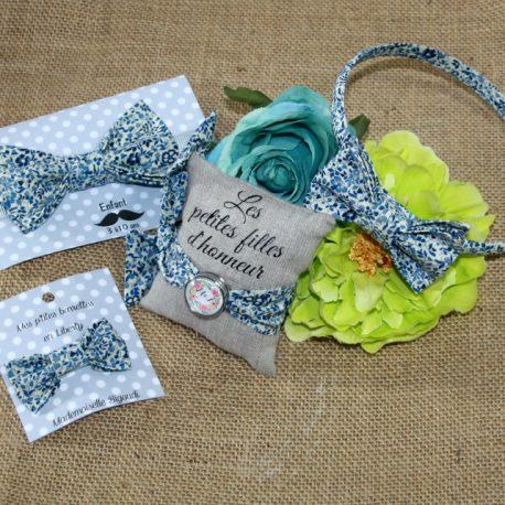Bracelet à nouer pour femme en Liberty Katie and Millie blue 2