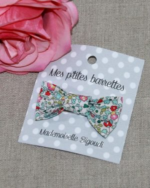 Barrette en Liberty Eloïse Mint