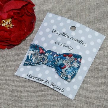 Barrette en Liberty Flowers tops bleu