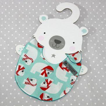 Bavoir bébé 0/8 mois thème ours polaire