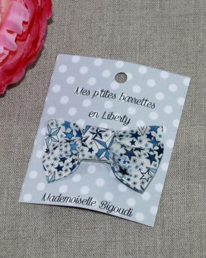 Barrette en Liberty Adelajda blue