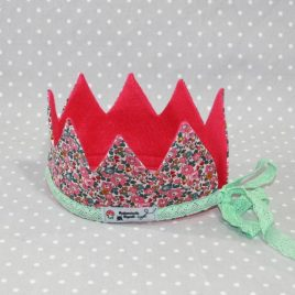 Couronne de Princesse en Liberty rose