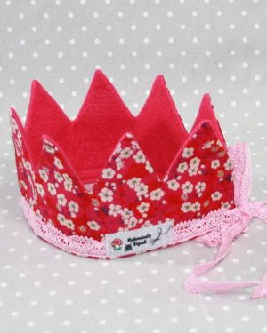 Couronne de princesse en liberty Mitsy rouge
