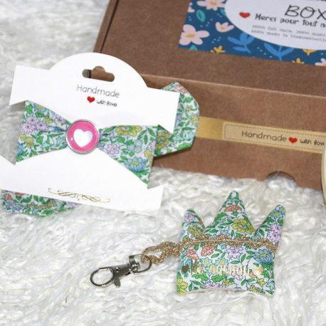Box «Ma nounou à moi» Liberty Favorite Flowers vert 2
