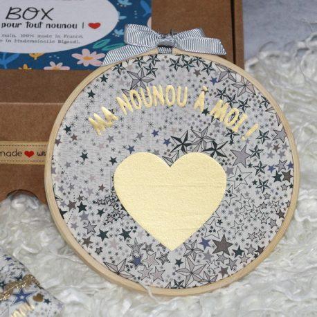 Box «Ma nounou à moi» Liberty Adelajda greige bleu 3