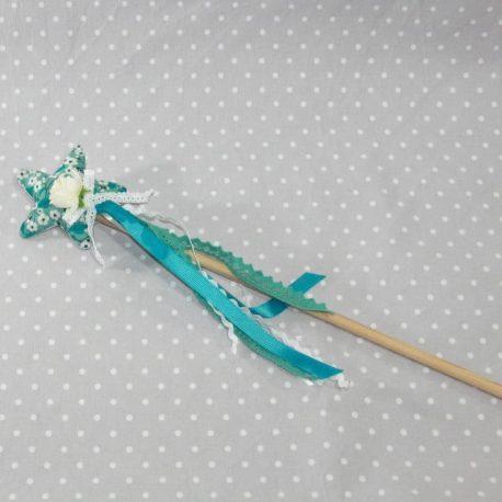 Baguette magique de fée en Liberty Mitsy bleu 2