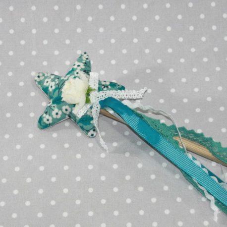 Baguette magique de fée en Liberty Mitsy bleu
