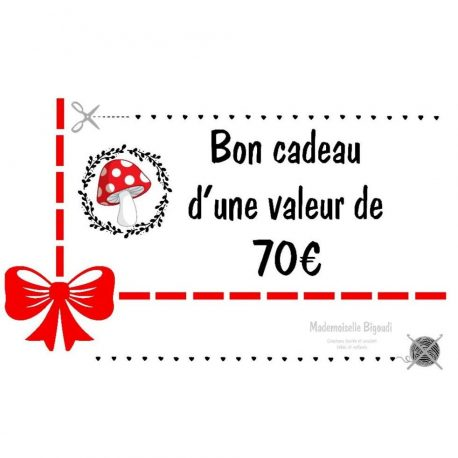 Bon cadeau 70 €