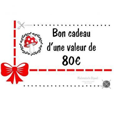 Bon cadeau 80 €