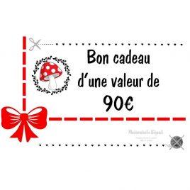 Bon cadeau 90 €