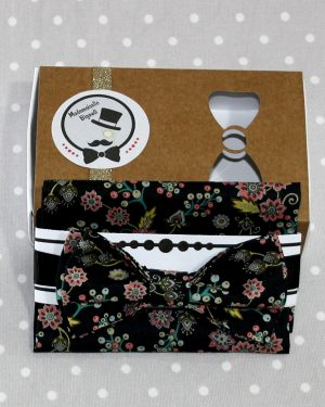 Ensemble pochette et Nœud papillon pré-noué / ajustable enfant 2 à 10 ans Liberty Buds and Berries