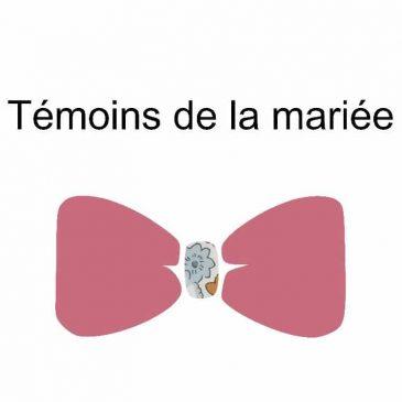 Mariage de Gilles et Marjorie nœud papillon témoins de la mariée homme
