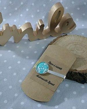 Pince à cravate en Liberty Capel turquoise