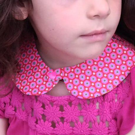 Col Claudine réversible enfant fleurs 2