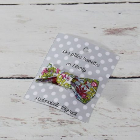 Barrette en Liberty Flower tops strawberry