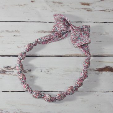 Collier boule en Liberty Eloise rose
