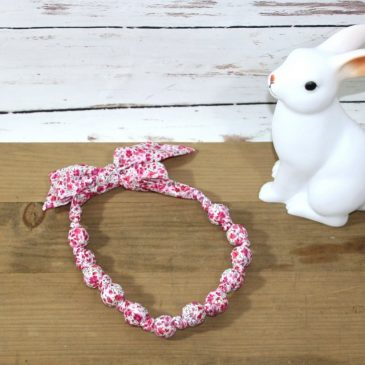 Collier boule en Liberty Phoebe rose
