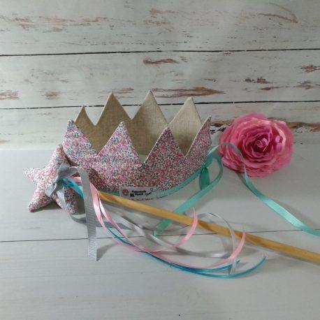 panoplie fée princesse, couronne, baguette création enfant jouet Mademoiselle Bigoudi Liberty (3)