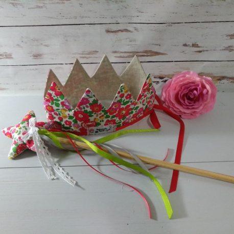 panoplie fée princesse, couronne, baguette création enfant jouet Mademoiselle Bigoudi Liberty (5)